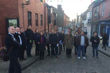 City tour with RUNIN scientific lead at University of Lincoln, David Charles.