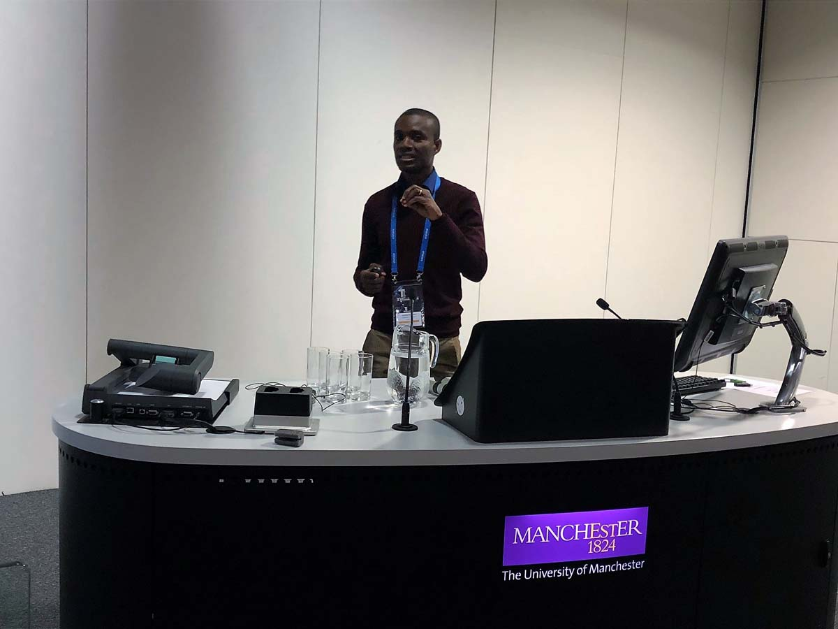 Kwadwo Atta-Owusu presenting at the conference