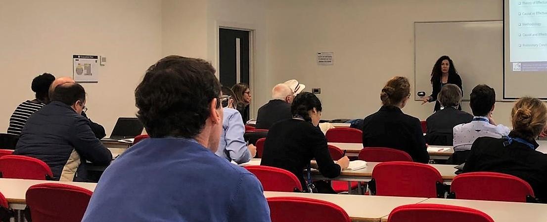 Liliana Fonseca presenting at THC 2018.