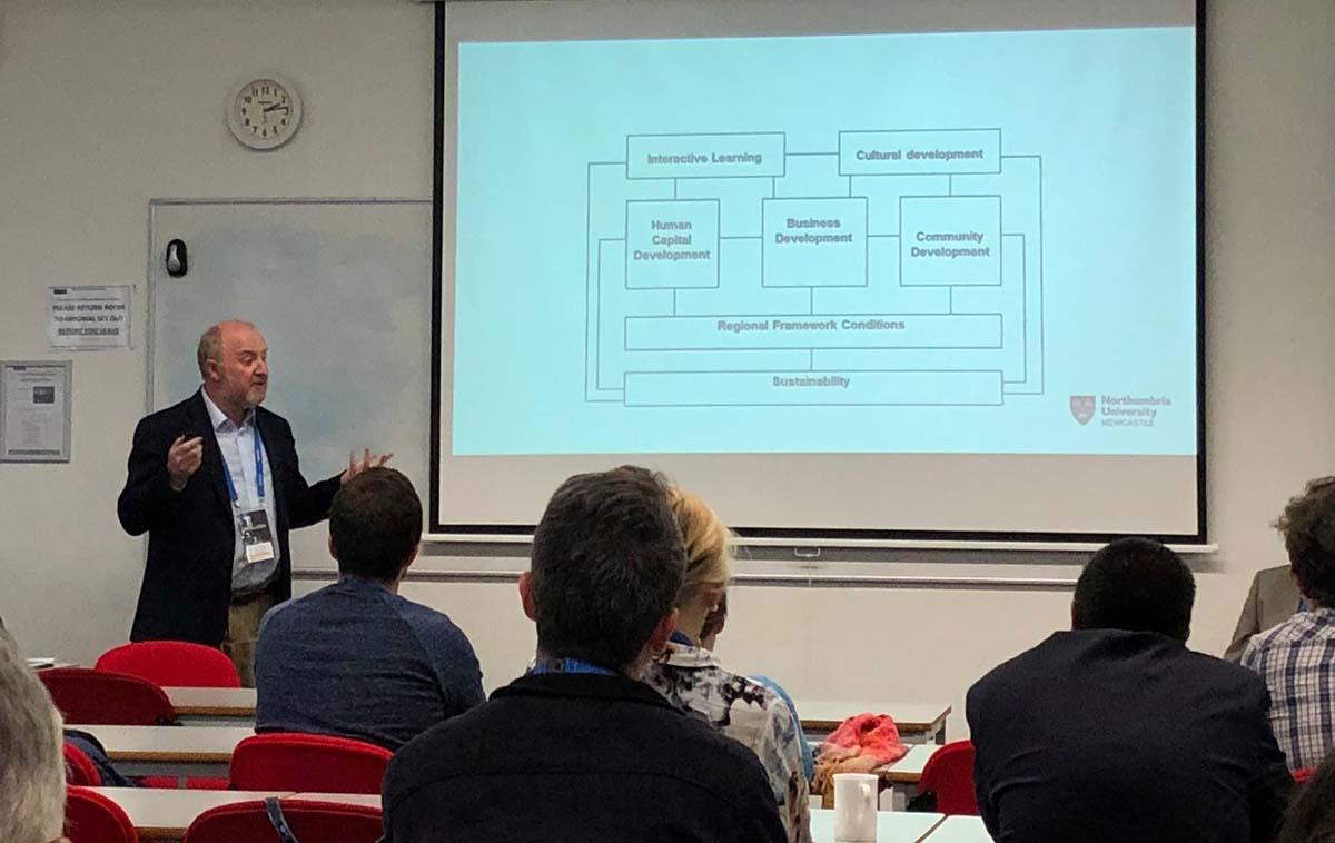 Professor David Charles presenting at THC