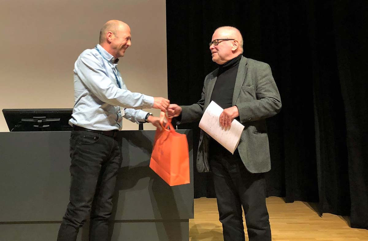 RUNIN supervisor Bjørn Asheim being honoured during the conference due to his strongly influential work in regional studies