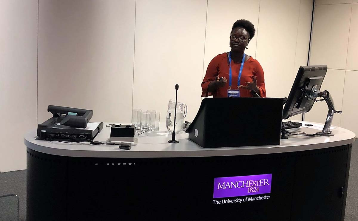 Rhoda Ahoba-Sam presenting at THC2018 in Manchester